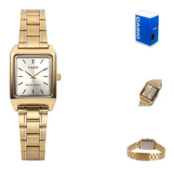 Reloj Casio Quartz Ltpv007 Dama Dorado