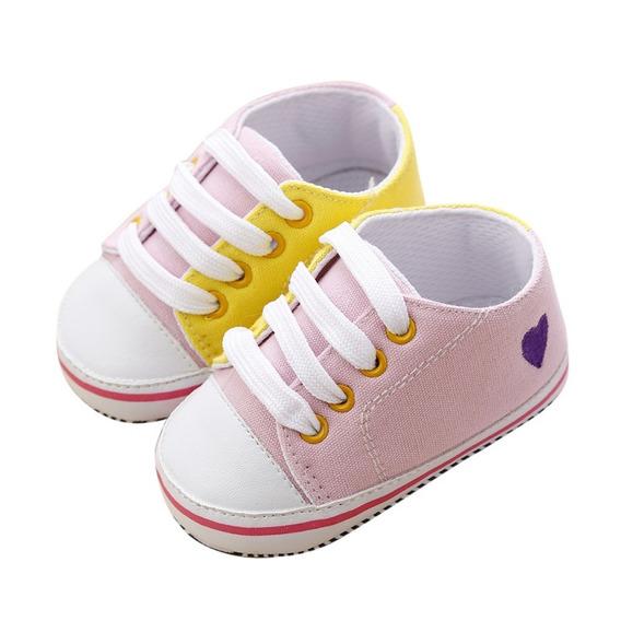 Sapato Bota Sapatinho Tênis Bebê Rosa Recém Nascido Promoção