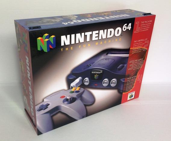 Caixa Vazia Nintendo 64 De Madeira Mdf