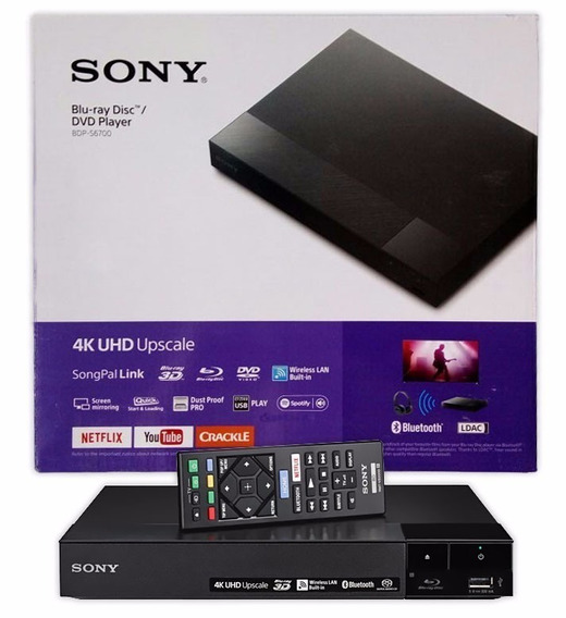 Dvd Blu-ray Sony S6700 4k Bluetooth-usb-hdmi Preto Bluray