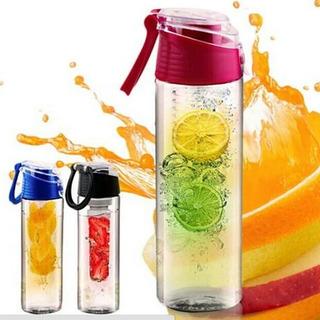 Copo Detox 700ml Garrafa C/ Infusor Para Frutas Squeeze Água