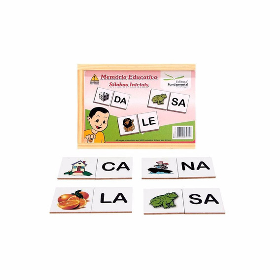 Memoria Educativa - Silabas Iniciais - Jogo C/40 Peças
