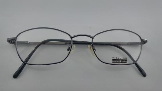 Óculos Receituário #oval Metal Titânio Polo 8132a