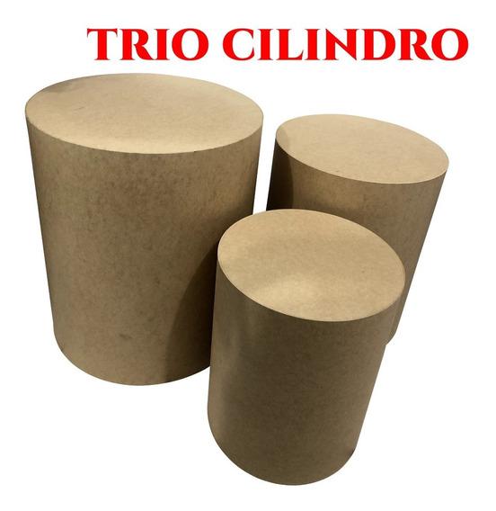 Cilindro Mdf Trio Mesa Decoração Festa