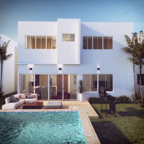 Villa De 4 Habitaciones Y Estudio En Punta Cana
