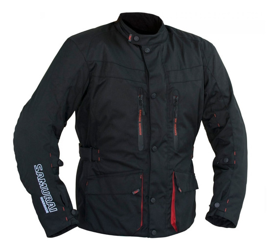 Campera Moto Samurai Liverpool Negro Touring Ruta Proteccion To
