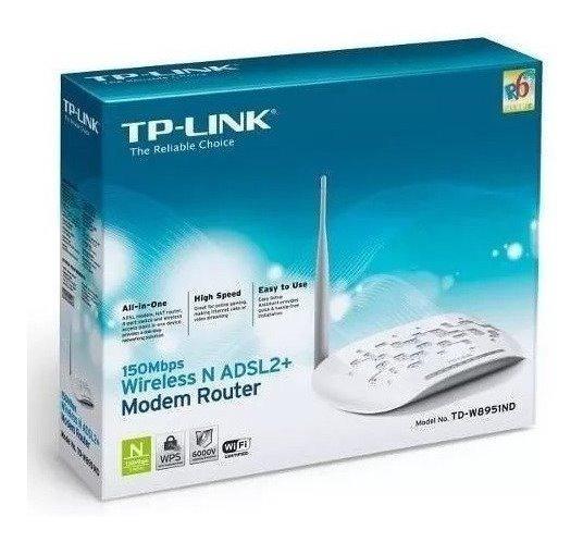 Modem Roteador Wireless Adsl2 N 150mbps Tp-link Td-w8951nd