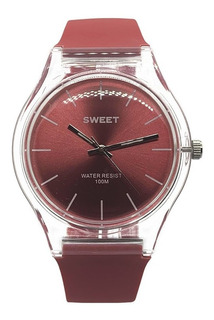 Reloj Sweet Mujer Carmel Red 100m Sumergible Agente Oficia