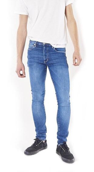 Jeans Hombre Bensimon Ramones Vintage Skinny Tiro Bajo