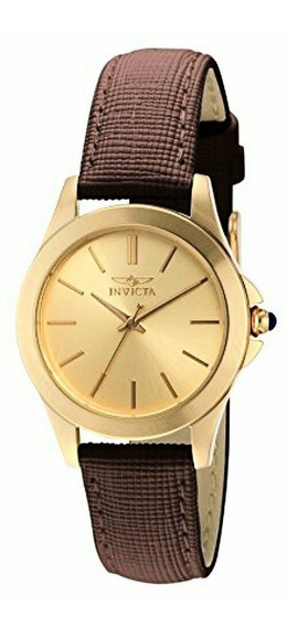 Invicta Angel 15150 Reloj Mujer, Color Oro Correa Cafe