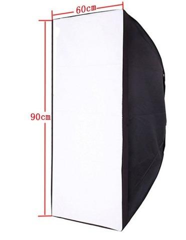 Softbox 60 X 90cm Iluminação De Estudio Encaixe Bowen