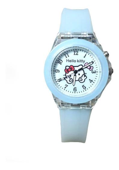 Reloj Con Luz Hello Kitty