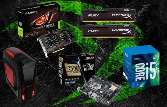 Pc Cpu Gamer Intel I5 7400 / 8gb / Gtx 1050 T.i./ 500 Gb