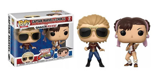 Funko Pop Marvel Vs. Capcom Captain Marvel Vs. Chun-li