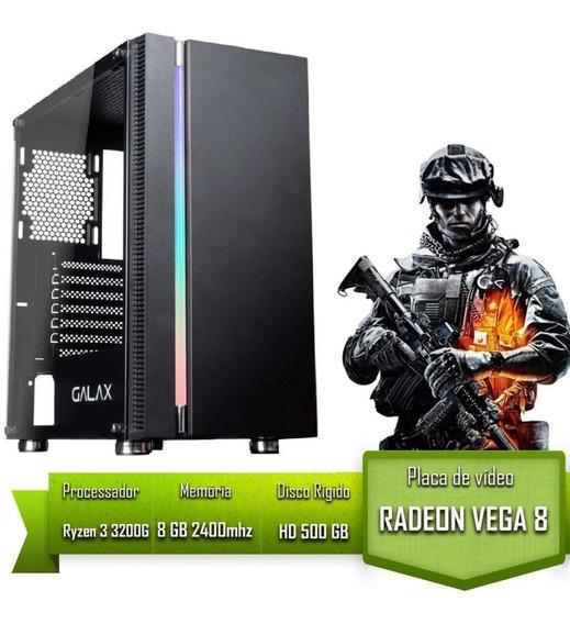Pc Gamer Amd Ryzen 3 3200g / 8gb 2400mhz /hd 500gb / Vega 8