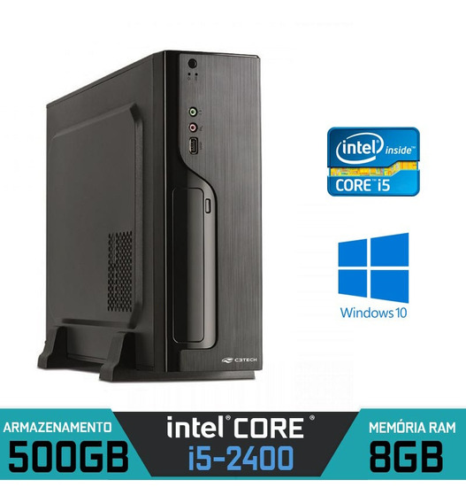 Computador Slim Intel Core I5-2400 Ram 8gb Hd 500gb Win 10