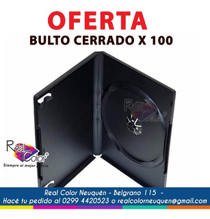 Cajas Negra Box Dvd 14 Mm X 100 Unidades Neuquen