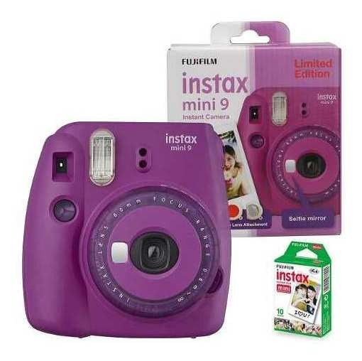 Câmera Instax Mini 9 Fujifilm Edição Limitada - Roxo Açaí