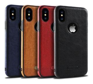 Funda Tipo Piel Leather Case iPhone 6 7 8 Plus X Max Xr +mic