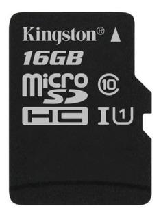 Cartão De Memória Microsd 16gb Kingston 80mb/s