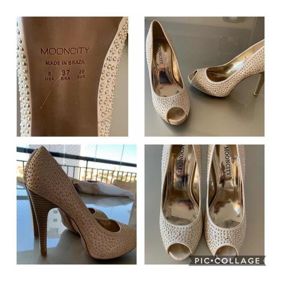 Sapato Mooncity - Cor Dourada - Tam. 37 - Usado 3 Vezes