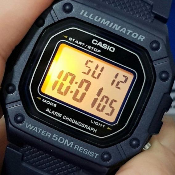 Relógio Casio Masculino Illuminator Preto Original W-218h-1a