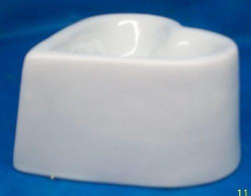Gato Cat - Comedouro Branco Em Porcelana ( 300 Ml )