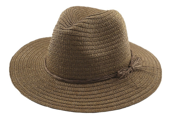 Sombrero Simil Panama C/ Cinta Adultos Unisex Art: 290093
