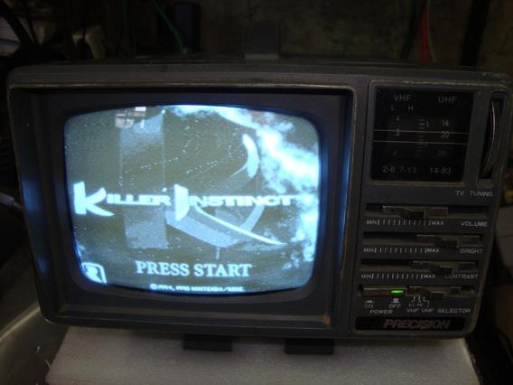 Tv Portátil Precision Ptv 964 5 Polegadas Funciona Restaurar