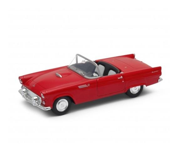Carro Miniatura Ford Thunderbird 1955 Conversível Vermelho