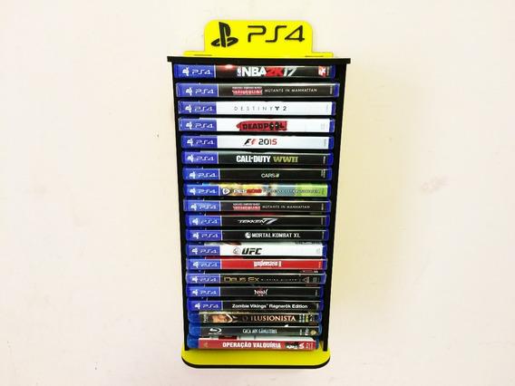 Porta Jogos, Case P/ Games Fixar Na Parede - 20 Jogos
