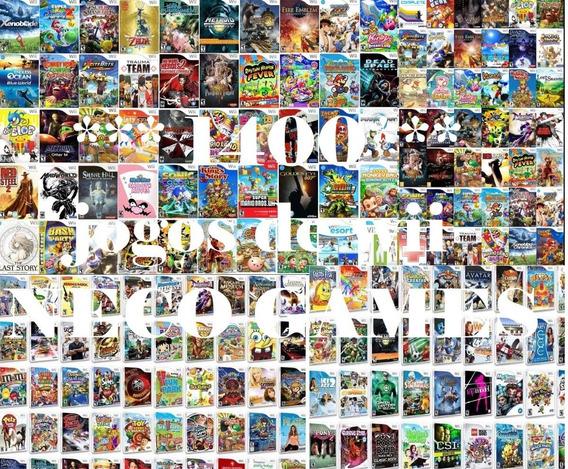 Promoção Black Friday 1200 Jogos Para Wii!