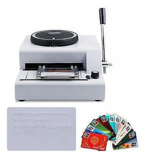 Impresora De Tarjetas De Pvc De 72 Caracteres Troqueladora