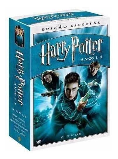 Harry Potter Edição Especial Box Coleção 5 Filmes Com 6 Dvds