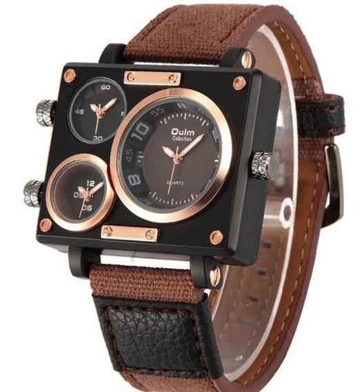 Relógio Masculino Oulm 3595 Original Militar Original 3 Relógios Funcional Modelo Grande Frete Grátis