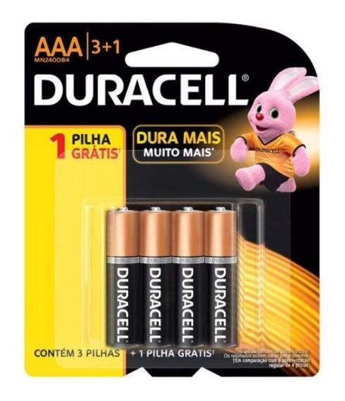 Pilha Aaa Alcalina Duracell 3 + 1 (brinde) Mn2400b4