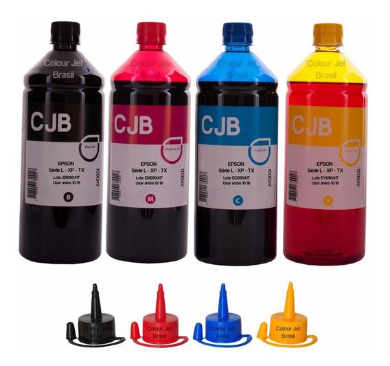 Kit De Tintas 4 Litros Para Impressoras L365 L375 Xp411