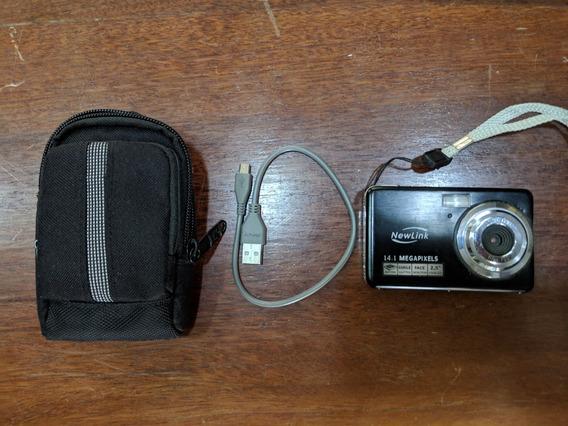 Câmera Digital Newlink - 14.1mp - Usada - Com Capa - Memória