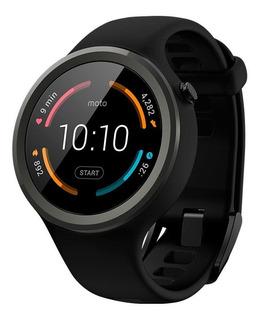 Smartwatch Moto 360 Sport Preto Com Caixa Original Importado