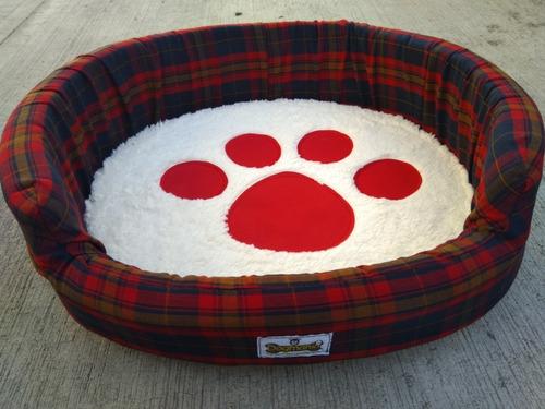 Cama Escocia 52x50x17 Con Cojin Desmontable Para Perro