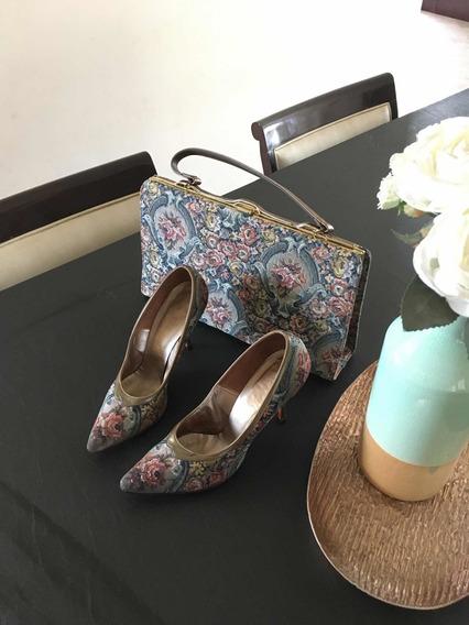Zapatos Y Cartera Vintage Marca Johansen Usa