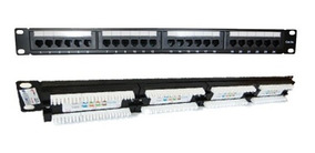 Patch Panel 24 Portas Cat6 Rj45 Certifica Fluke Rack 19