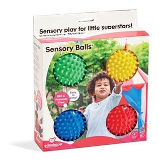 Edushape Set De 4 Pelotas Sensoriales Estimulacion Bebes