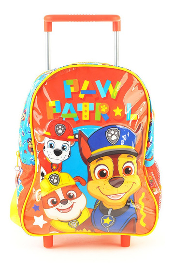 Mochila Paw Patrol Al Rescate Con Carro 12 Original