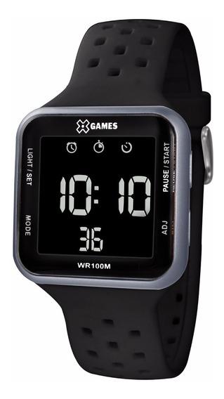 Relógio X-games Unissex Digital Xgppd091 Grafite Negativo