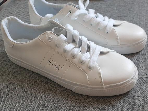 Zapatillas Tommy Hilfiger Importadas Blancas Para Hombre