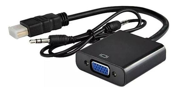 Adaptador Conversor Hdmi A Vga Ideal Placa De Video C/audio
