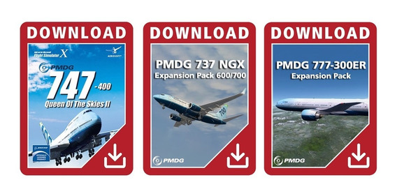 Fsx Flight Simulator - Super Pacote Pmdg 737, 777 & 747 Fmc