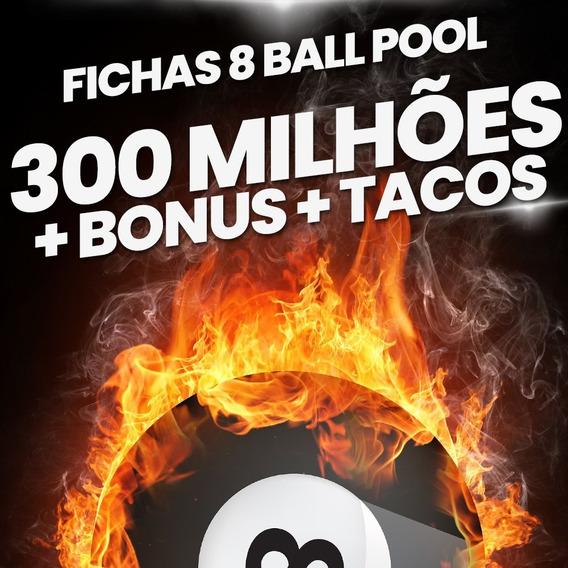 8 Ball Pool Fichas 8 Ball Pool 300 Milhões E Tacos