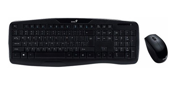 Kit Teclado Mouse Inalambrico Genius Kb 8000x Smart Tv Pc
